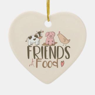 Freund-nicht Nahrung 2 Keramik Ornament