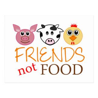 Freund-nicht Nahrung Postkarte
