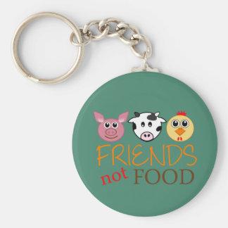 Freund-nicht Nahrung Standard Runder Schlüsselanhänger