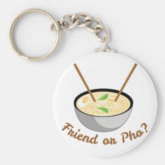 Freund oder Pho Schlüsselanhänger