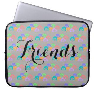 """""""Freunde"""" Freundschaft, Laptop-Hülse Laptopschutzhülle"""