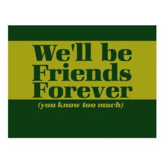 Freunde für immer postkarten