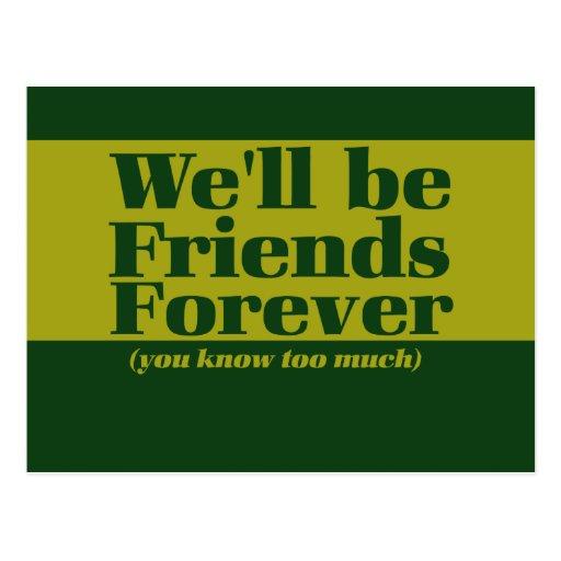 Freunde für immer postkarte