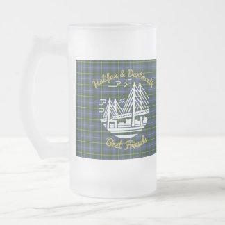 Freunde Halifaxes Dartmouth mattierte Bier-Tasse Mattglas Bierglas