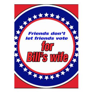 Freunde lassen nicht Freunde Bills Ehefrau Postkarte