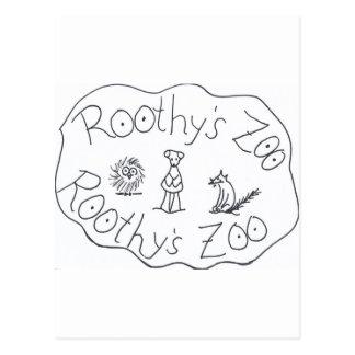FREUNDE ROOTHYS ZOO-DREI durch Ruth I. Rubin Postkarten