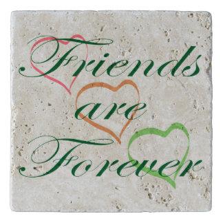 Freunde sind für immer Herzen Töpfeuntersetzer