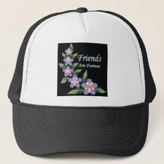 Freunde sind für immer mit Blumen Truckerkappe
