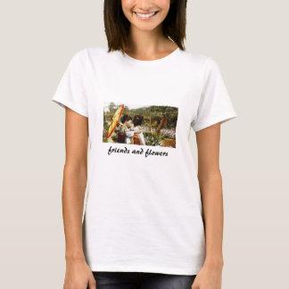 Freunde und Blumen T-Shirt