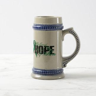 Freundin mein Held - Nieren-Krebs-Hoffnung Bierglas