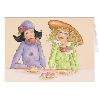 Freundinnen sind Schwestern - Gruß-Karte Karte