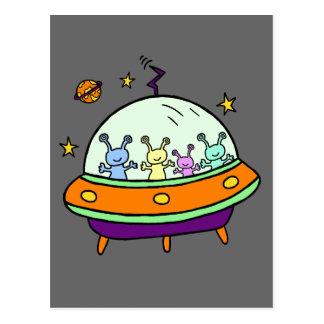 Freundliche Außerirdische Postkarte