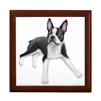 Freundliche Boston-Terrier-HundeGeschenkboxen Geschenkbox