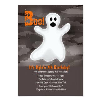 Freundliche Geist-Halloween-Party-Einladung 12,7 X 17,8 Cm Einladungskarte
