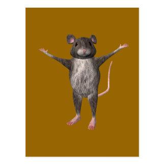 Freundliche Haus-Maus Postkarte