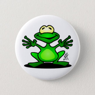 Freundlicher Frosch Runder Button 5,1 Cm