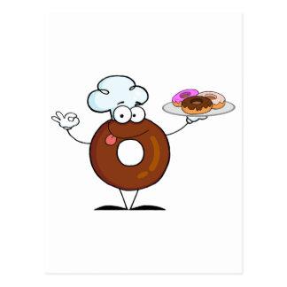 Freundlicher Krapfen-Koch Postkarte
