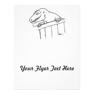 Freundlicher Nachbarschafts-Dinosaurier Flyer