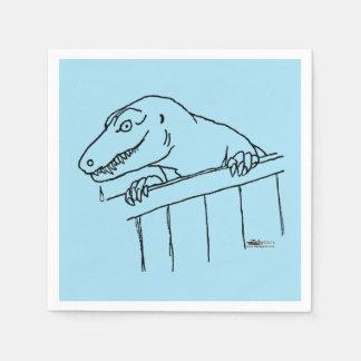 Freundlicher Nachbarschafts-Dinosaurier Papierserviette