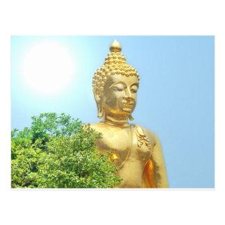 freundlicher sitzender Buddha Postkarte
