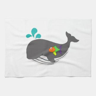 Freundlicher Wal Handtuch