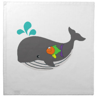 Freundlicher Wal Serviette
