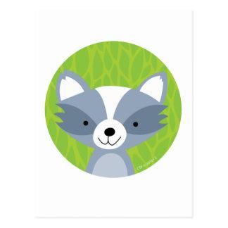 Freundlicher Waschbär - Waldfreunde Postkarte