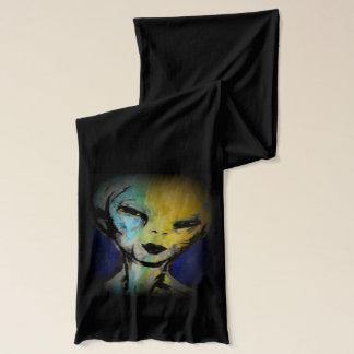"""""""freundliches alien"""" auf einem Jersey-Schal Schal"""