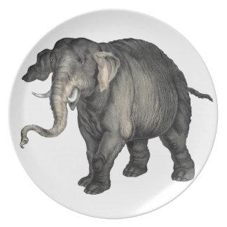 freundliches Elefant 🐘 Teller