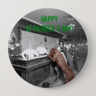 Freundliches glücklicher Bar-Foto 1900 St. Runder Button 10,2 Cm
