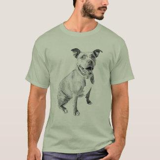 Freundliches Pitbull T-Shirt