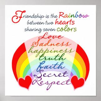Freundschaft ist die Regenbogen BESTE FREUNDIN Poster
