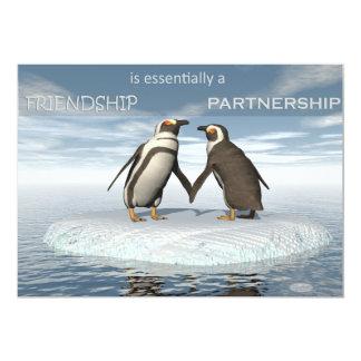 Freundschaft ist essentailly eine Partnerschaft Karte