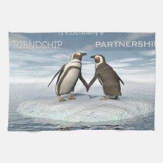 Freundschaft ist essentailly eine Partnerschaft Küchentuch