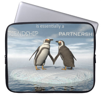 Freundschaft ist essentailly eine Partnerschaft Laptopschutzhülle