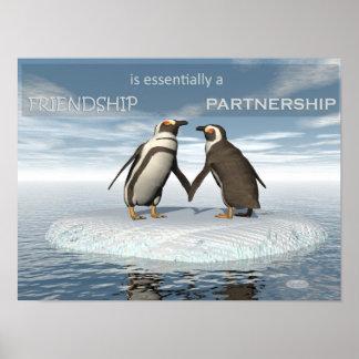 Freundschaft ist essentailly eine Partnerschaft Poster