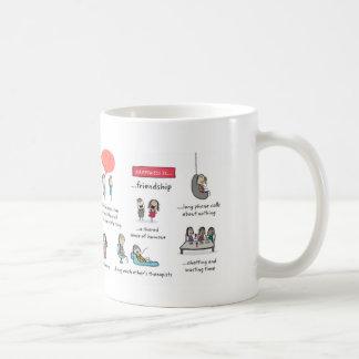 Freundschaft ist kaffeetasse