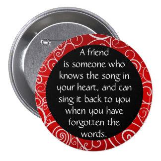 Freundschaft ist… runder button 7,6 cm