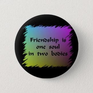 Freundschaft Runder Button 5,1 Cm