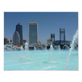 Freundschafts-Brunnen-Jacksonville-Foto-Druck Flor