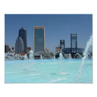 Freundschafts-Brunnen-Jacksonville-Foto-Druck Flor Photo Druck