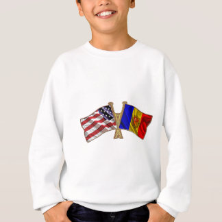 Freundschafts-Flagge Andorras USA Sweatshirt