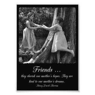 Freundschafts-Henry- David Thoreauzitat-Foto-Druck