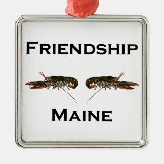 Freundschafts-Maine-Hummer Silbernes Ornament