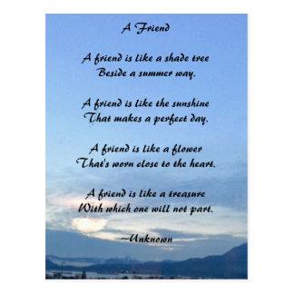 Freundschafts-Postkarte Postkarte