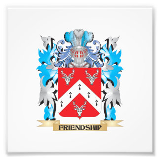 Freundschafts-Wappen - Familienwappen Fotodruck