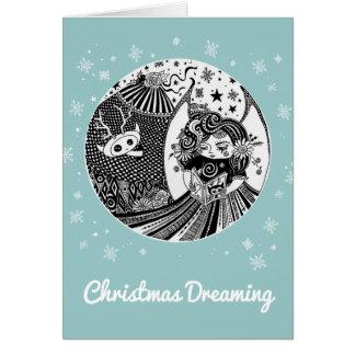 Freundschafts-Weihnachtskarten-zufrieden Karte