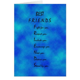 Freundschaftskarte Karte