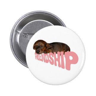 Freundschaftswelpe/-hund ist der beste Freund des  Runder Button 5,1 Cm