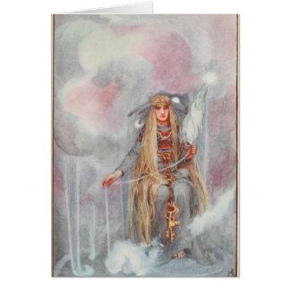 Freya, Königin der Skandinavier-Götter Karte